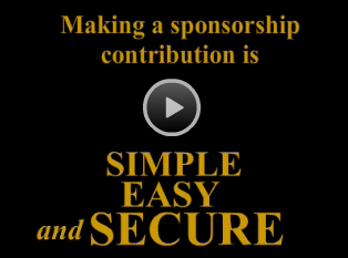 Making a sponsorship contribution is Simple, Easy and Secure